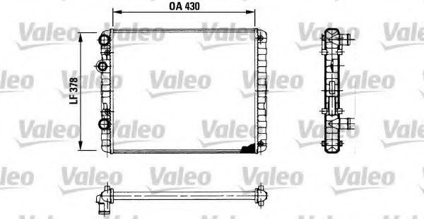 Радіатор охолоджування Valeo 730956