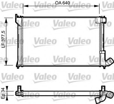 Радиатор, охлаждение двигателя VALEO арт.