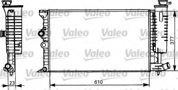 Радіатор охолоджування Valeo 731298