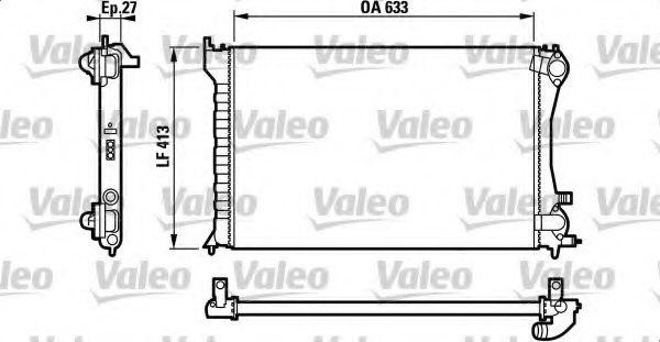 Радіатор охолоджування Valeo 732567
