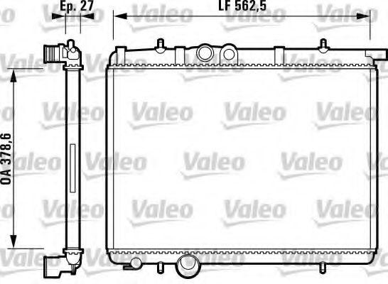 Радіатор охолоджування Valeo 732793