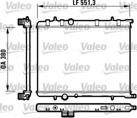 Радіатор охолоджування Valeo 732908