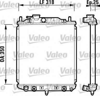 Радиатор, охлаждение двигателя VALEO арт. 734101