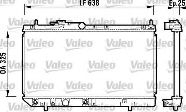 Радиатор, охлаждение двигателя VALEO арт. 734102