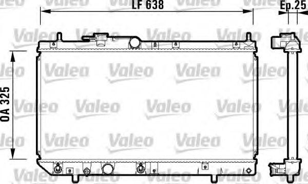 Радиатор, охлаждение двигателя VALEO арт. 734103