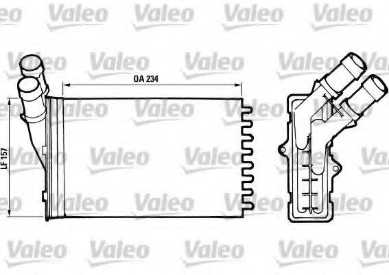 Теплообменник, отопление салона VALEO арт.