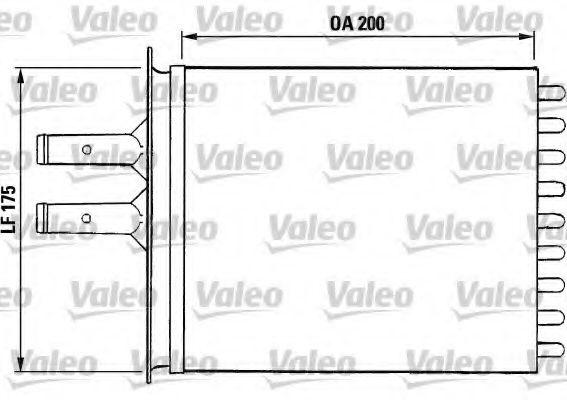 Теплообменник, отопление салона VALEO арт. 812081