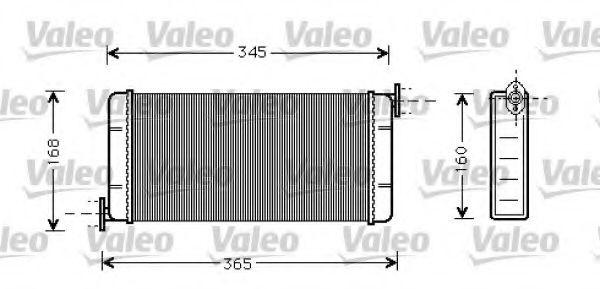 Теплообменник, отопление салона VALEO арт. 812084