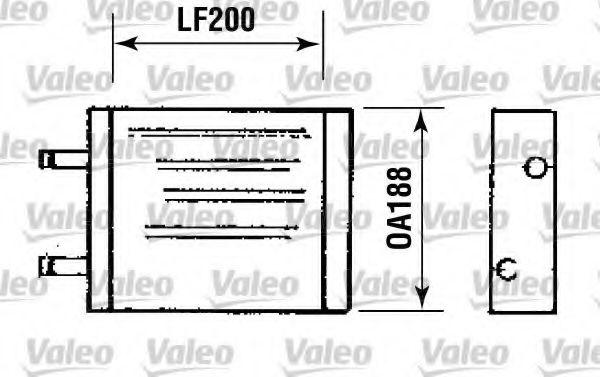 Теплообменник, отопление салона VALEO арт. 812093