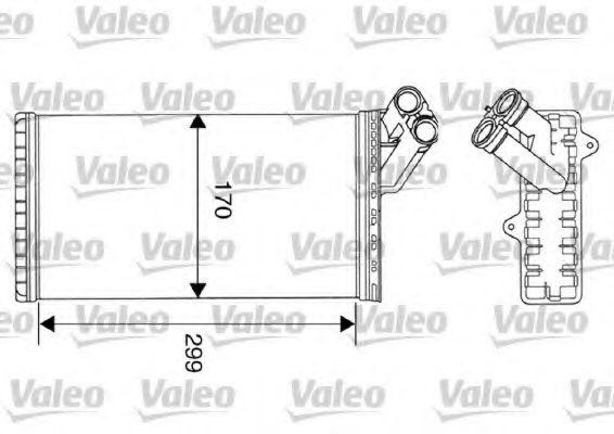 Теплообменник, отопление салона VALEO арт. 812116