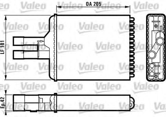 Теплообменник, отопление салона VALEO арт. 812117