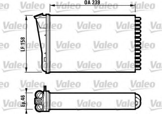Теплообменник, отопление салона VALEO арт. 812126