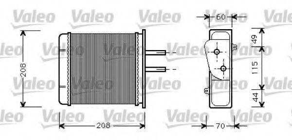 Теплообменник, отопление салона VALEO арт. 812145