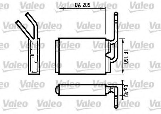 Теплообменник, отопление салона VALEO арт. 812154