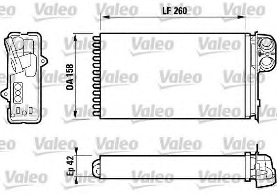 Теплообменник, отопление салона VALEO арт. 812161