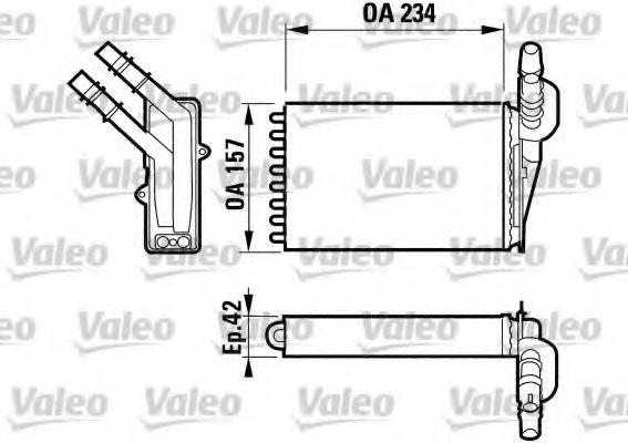 Теплообменник, отопление салона VALEO арт. 812169