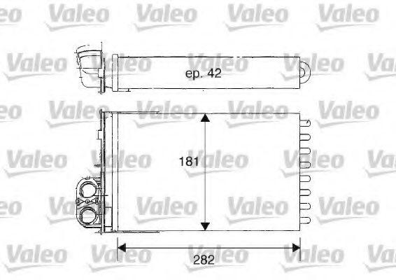 Теплообменник, отопление салона VALEO арт. 812181