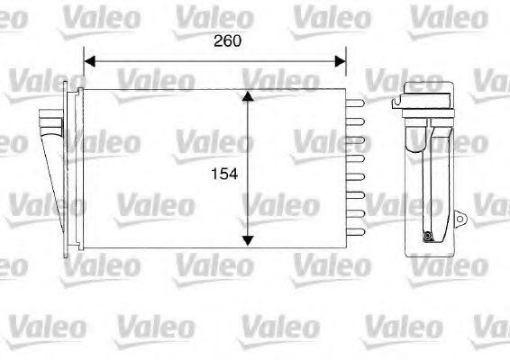 Теплообменник, отопление салона VALEO арт. 812194