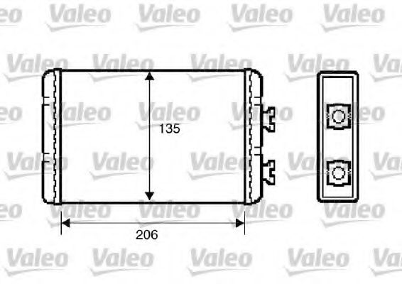 Теплообменник, отопление салона VALEO арт. 812220