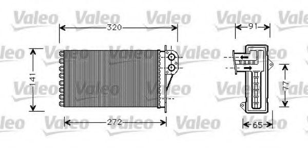 Теплообменник, отопление салона VALEO арт. 812221