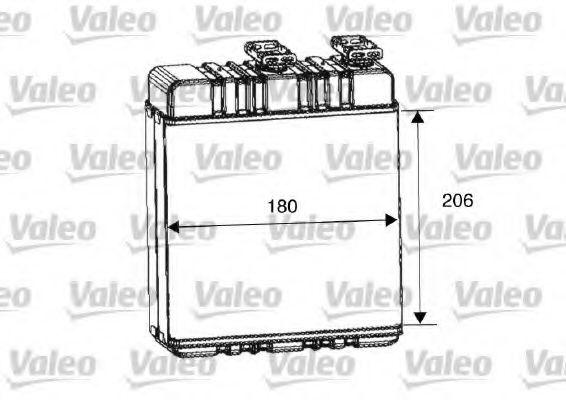 Теплообменник, отопление салона VALEO арт. 812222