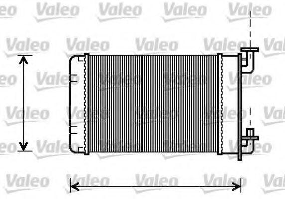 Теплообменник, отопление салона VALEO арт. 812238