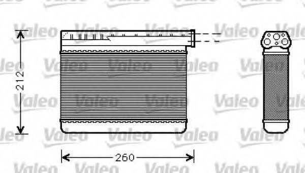 Теплообменник, отопление салона VALEO арт. 812240