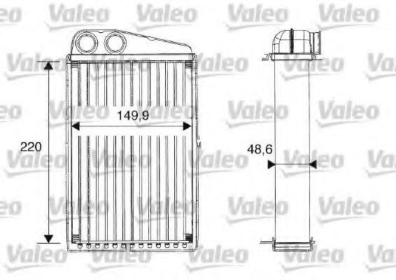 Теплообменник, отопление салона VALEO арт. 812247