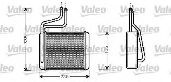 Теплообменник, отопление салона VALEO арт. 812275