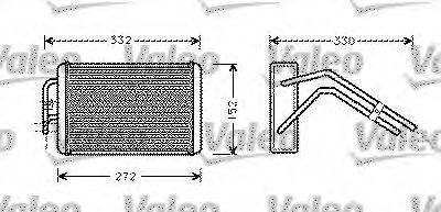 Теплообменник, отопление салона VALEO арт. 812277