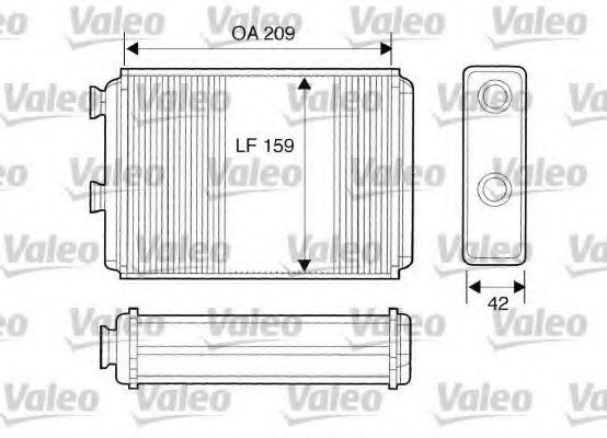 Теплообменник, отопление салона VALEO арт. 812280
