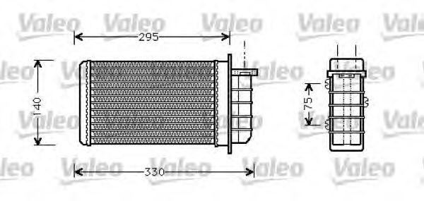 Теплообменник, отопление салона VALEO арт. 812281