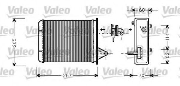 Теплообменник, отопление салона VALEO арт. 812283