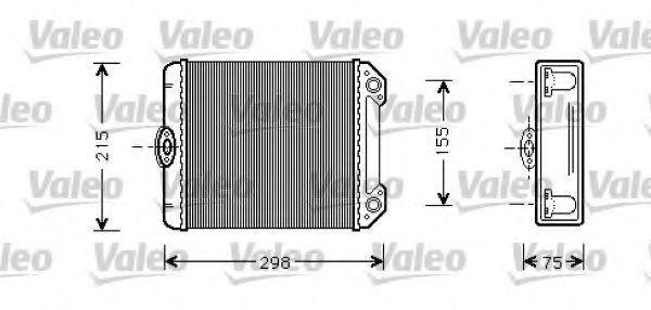 Теплообменник, отопление салона VALEO арт. 812299