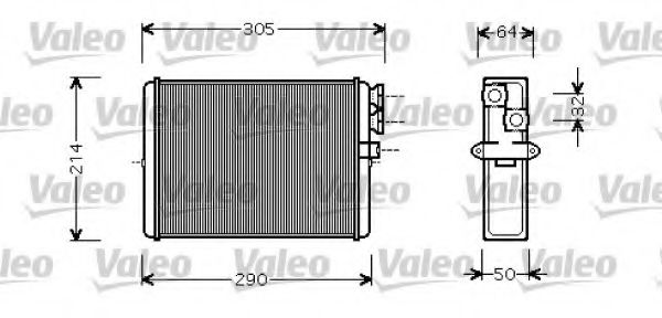 Теплообменник, отопление салона VALEO арт. 812328