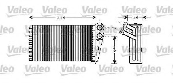 Теплообменник, отопление салона VALEO арт. 812338