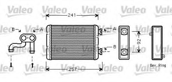 Теплообменник, отопление салона VALEO арт. 812360