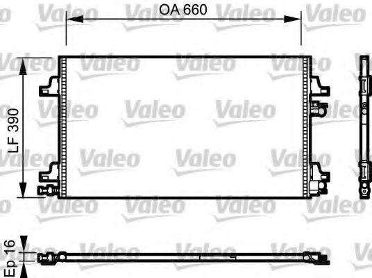 Конденсатор, кондиционер VALEO арт. 814006