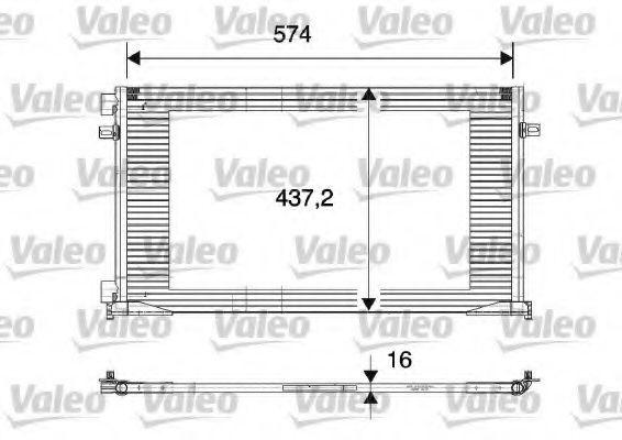 Радіатор охолоджування Valeo 817577