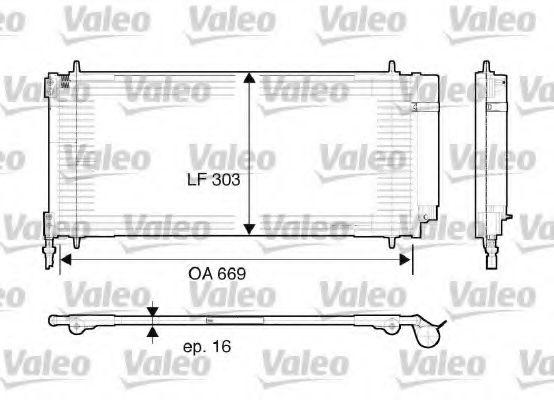 Конденсер кондиціонера Valeo 817740