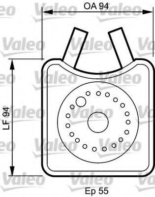масляный радиатор, двигательное масло VALEO арт.