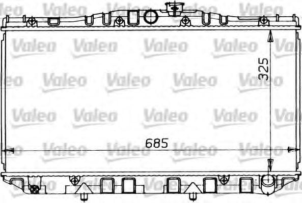 Радіатор охолоджування Valeo 819123