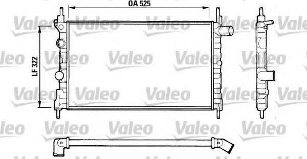 Радіатор охолоджування Valeo 883881