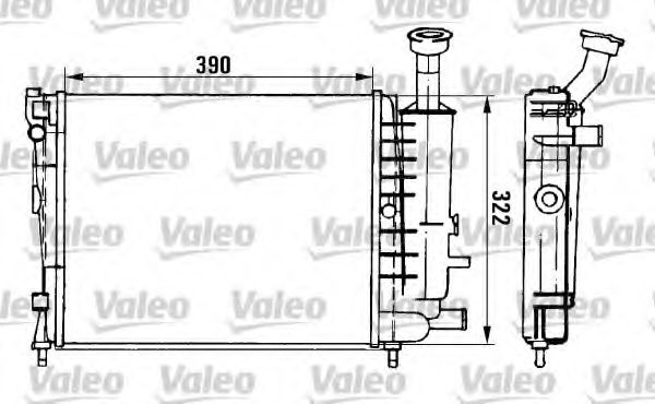 Радіатор охолоджування Valeo 961149