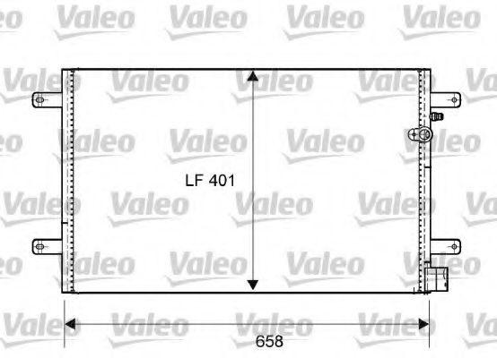 Конденсатор, кондиционер VALEO арт. 814004