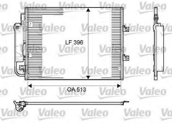 Конденсер кондиціонера Valeo 814061