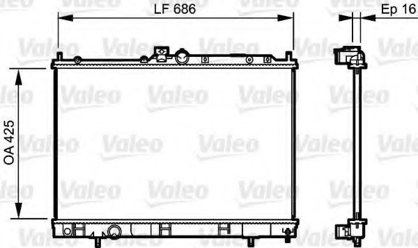 Радіатор охолоджування Valeo 735201