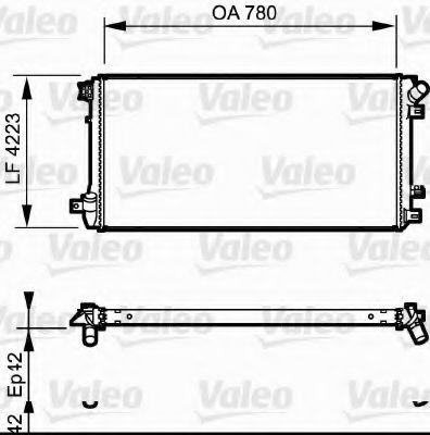 Радіатор охолоджування Valeo 735112