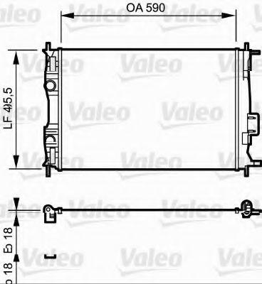 Радіатор охолоджування Valeo 735119