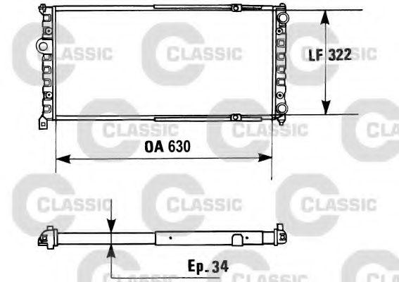 Радиатор, охлаждение двигателя VALEO арт. 230945